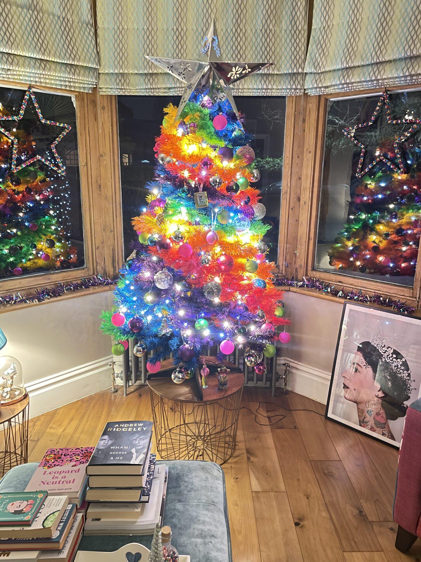 How I Styled My Rainbow Christmas Tree
